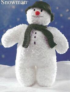 Boys girls The Snowman Toy KNITTING PATTERN Snowflake Chunky & DK  41cm 365