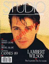 Studio n°27 du 06/1989 Lambert Wilson Enki Bilal Sergio Leone Michel Blanc