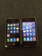2 x Apple iPhone 3G & 3GS - 8/16GB - Black (AT&T) A1241/A1303 -  AC538