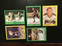 1972-73 TOPPS 5 HOCKEY CARDS LOT, EX+NM. RICH COLOR-HI-GRADE