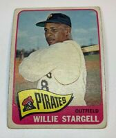 1965 Topps # 377 Willie Stargell Baseball Card Pittsburgh Pirates HOF