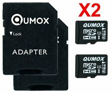 2x QUMOX 16GB MICRO SD MEMORY CARD CLASS 10 UHS-I 16 GB SPEICHERKARTE WH