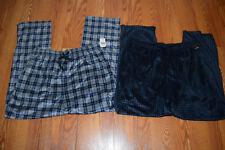 NWT Mens NAUTICA Sleepwear 2 pk Gray Navy Plaid Plaid Soft Pajama Pants L