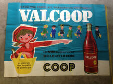 Affiche ancienne VALCOOP Vin supérieur sélectionné Wine vintage original poster