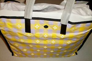 Kate Spade Morley Yellow Lilac Extra Large XL Nylon Tote Shopper Bag Purse ~ NWT