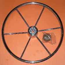 """Attwood 8647T4 Stainless Steel Steering Wheel 18"""" 3859"""