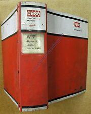 Original Case Service Manual 9-99955 With Binder W7 Series-E Loader