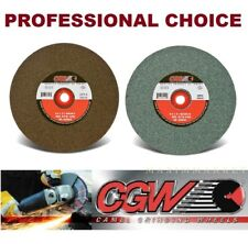 "Lot of Two CGW Grinding Wheels 6""x1""x1"" Replacement Kit for Bench Grinder"