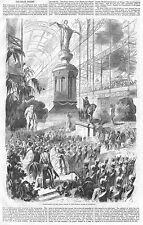 Guerra di Crimea pace TROPHY al Crystal Palace-Antico stampa 1856