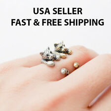 Leopard Cheetah Cat Africa Adjustable Size Ring Zoo Animals Retro Fashion