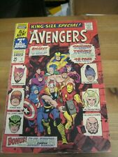 Avengers King-Size Special Annual #  1 SEPT 1967 Classic Buscema Romita cover KK