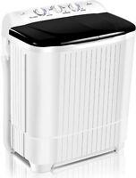 26LBS Home Portable Washing Machine Twin Tub Drain Pump Spiner Dryer Washer.