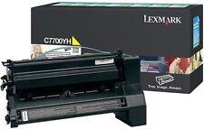 Genuine Original Lexmark YELLOW Laser Printer Toner Cartridge C7700YH C770/C772