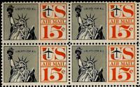 Scott#: C58 - Statue of Liberty Block of Four MNH OG -- Free Shipping --