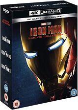 IRON MAN 4K 3-Movie Collection [Blu-Ray] [Region Free] NEW