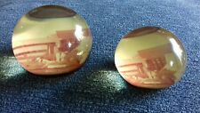 VINTAGE PERSPEX/LUCITE paperweights TORONTO SCIENCE CENTRE 1970's - ex condition
