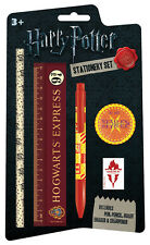 *NEW* Harry Potter Hogwarts 5 Piece Stationery Set Pen/ Pencil/ Ruler/ Sharpener