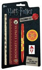 *NEW* Harry Potter Hogwarts 5 Piece Stationery Set Pen/ Pencil/ Ruler/ Sharpener