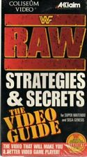 WWF RAW STRATEGIES AND SECRETS THE VIDEO GUIDE VHS SNES PSX SEGA GENESIS