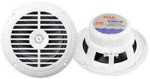 Pyle PLMR67W 6-1/2'' Marine 2 Wege Lautsprecher 65 mm Bott Bad Sauna weiß