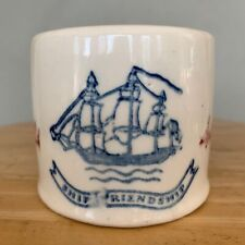 Vintage Old Spice Shave Mug #2 Early American Hull Pottery Shulton 1940s Crack