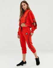 B/NEW Ltd Edition IVY PARK Craft Lace Drawstring RED&BLACK JOGGERS SOLD-OUT £79