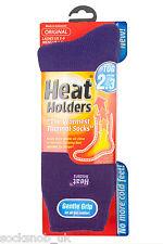 Ladies Original Heat Holders Thermal Boot Socks Plain Purple