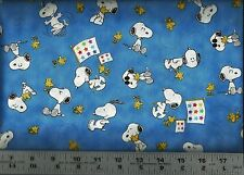 QT ~ PEANUTS SNOOPY Woodstock ~ PROJECT LINUS ~ 100% Cotton Quilt Fabric BTY