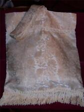 Bridal Ivory Money Bag  Rose fabric with fringe and lace  Handmade