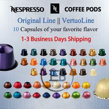 Coffee Pods 10 Capsule For Nespresso Original line - Vertuoline Flavor Fast Ship