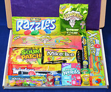 American Sour Candy Hamper - Birthday Present - Sour Sweets - Warheads - Razzles