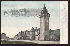 Postcard Portland Me Mt Union Railroad Depot 1906