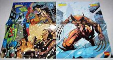 """Lot of 2 WIZARD PROMO POSTERS 10"""" x 13"""" DC SUPERHEROES & MARVEL WOLVERINE"""