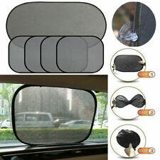 5× Universal Car SUV Side Window Sunshade Block Visor Cover Pinstripe Mesh Black