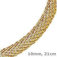 10mm Armband Armschmuck Himbeer oval, 585 Gold Gelbgold, 21cm, Goldarmband