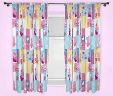 "NEW PEPPA PIG NAUTICAL DESIGN CURTAINS 66"" x 72"" CHILDREN / JUNIOR GIRLS BEDROOM"