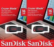 Lot 2 x SanDisk 16GB 16G (=32GB) CZ50 Cruzer Blade USB 2.0 Pen Drive SDCZ50-016G