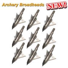 Archery Arrowhead Broadheads 100/125Grain Arrow Tips Points Bow Hunting Crossbow