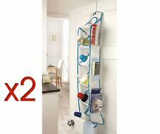 2 x Kleeneze Over Door Storage Shelves Bathroom/Kitchen/Toy/Shed Tidy Holder NEW