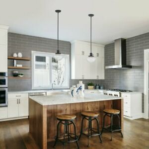 1-Light Single Pendant  With Clear Glass  FInish For Kitchens,Hallways