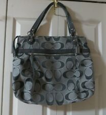 Coach  HTF  # 18979  Lurex  Jacquard  Gray / Silver Outline  Large  Glam Tote