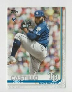 (11) Diego Castillo 2019 TOPPS SERIES 2 ROOKIE CARD LOT #650 RAYS / MARINERS