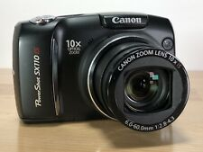 Canon PowerShot Digital Camera SX110IS Camera Works Damaged Body (READ)