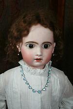 Antique Silver and Blue Topaz Paste Necklace (#22)