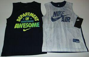 ~2 NWT Boys NIKE Sleeveless Shirts! Size 6 Nice:)!