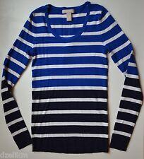 NWT $69.50 Banana Republic Striped Colorblock Sweater Size XS