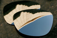 Chrome Silver Polarized Mirror Replacement Sunglass Lenses for Oakley Frogskins