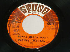 Earnest Jackson: Funky Black Man / Why Can't I Love Somebody [Unplayed Copy]