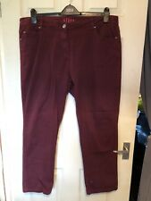 Simply Be Slim Fit Burgandy Jeans Size 20