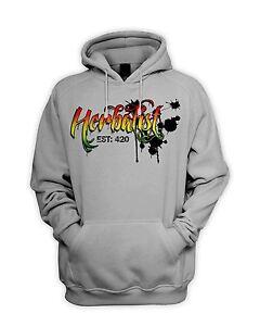 Herbalist 420 Cannabis Men's Hoodie - Hooded Sweatshirt Weed Hydroponics